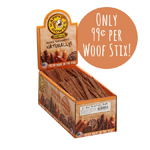 "Happy Howie Dog Beef WOOF STIX 6"" 80 Pack"