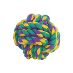 Multipet Nuts for Knots Rope/Rubber Ball (Assorted Colors)  3inch
