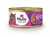 Nulo FreeStyle Shredded Beef & Rainbow Trout Canned Cat Food 24ea/3oz