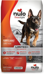 Nulo FreeStyle Limited+ Grain Free Turkey Dry Dog Food 22lbs