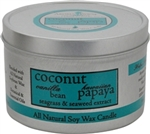 Aroma Paws Coconut Papaya 8 oz.. Travel Tin Candle
