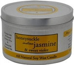 Aroma Paws Honeysuckle Jasmine 8 oz.. Travel Tin Candle