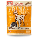 Primal Buffalo Liver Snaps Dry Roasted Dog Treats, 4.25-oz. bag
