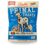 Primal Pork Liver Munchies Freeze-Dried Dog & Cat Treats, 2-oz. bag