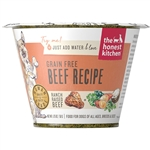 Honest Kitchen  Dog Grain Free Beef  1.75 oz.  Cup (Case of 12)