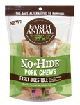 "Earth Animal No Hide Pork Chews Dog Treats, 4"", 2 Pack"