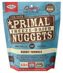 Primal Pet Foods Freeze Dried Food For Cats 5.5oz Rabbit