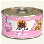 Weruva Cat Nine  Liver  3 Oz.  Case of 24