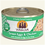 Weruva Cat Green Egg  Chicken 3 Oz.  Case of 24