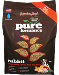 Grandma Lucys Dog  Pure Grain Free Rabbit Chickpea  10 Lbs.