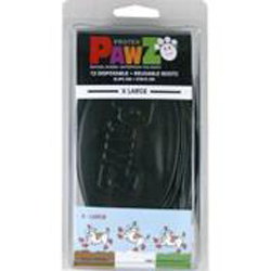 Pawz Dog Boots Black Extra Large