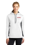 Ladies Sports Fleece Hooded Pullover