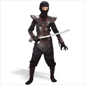 Leather Ninja Fighter  Child Costume