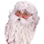 Deluxe Santa Wig, Beard and Eyebrows Set | 133326