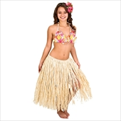 Natural Raffia Skirt Adult X-Large