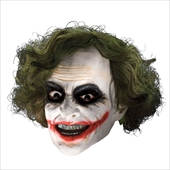 Batman Dark Knight Child Joker 3/4 Vinyl Mask with Hair