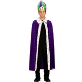Mardi Gras King Robe & Crown Adult Costume Kit | 152329