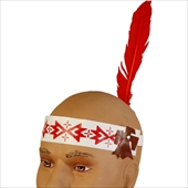 Indian Headband with Feather