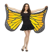 Orange Satin Butterfly Adult Wings | 242989