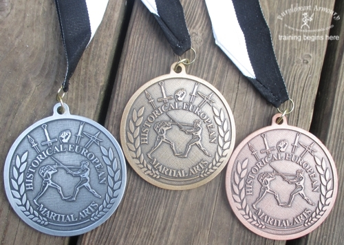 Talhoffer Tournament Medals Set - 1 Gold, 1 Silver, 1 Bronze