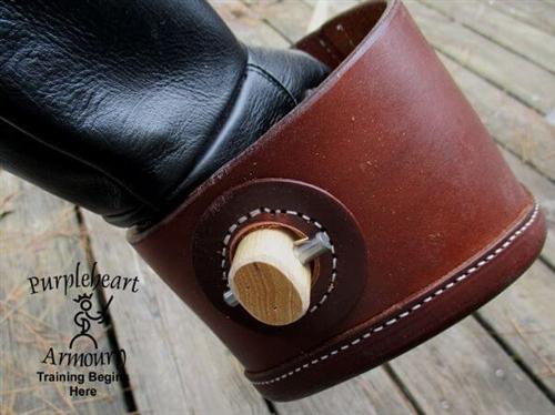 leather singlestick hilt with hickory stick