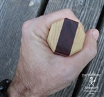 "Staff - Hickory/Purpleheart/Hickory - Octagon 1.5"" x 72"" (6'))"