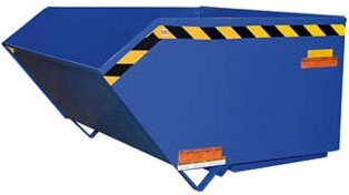 Low Profile 90° Self-Dumping Steel Hopper