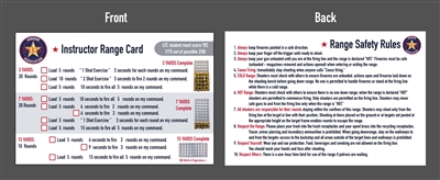 License to Carry Range/Safety Rules Card