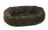 Bowsers Donut Dog Bed Chocolate Bones Microvelvet: Free Shipping
