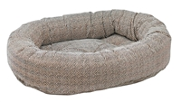 Bowsers Donut Dog Bed Herringbone Microvelvet: Free Shipping