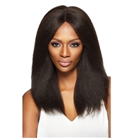 Glamourtress, wigs, weaves, braids, half wigs, full cap, hair, lace front, hair extension, nicki minaj style, Brazilian hair, crochet, hairdo, Outre Simply 100% Non-processed Brazilian Human Hair 4x4 Hand-Tied Lace Front Wig - Natural Blow Out Straight