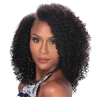 Glamourtress, wigs, weaves, braids, half wigs, full cap, hair, lace front, hair extension, nicki minaj style, Brazilian hair, crochet, hairdo, Zury Naturali Star 100% Human Hair 9pc Clip & Go 3C Curly 12""