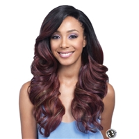 Glamourtress, wigs, weaves, braids, half wigs, full cap, hair, lace front, hair extension, nicki minaj style, Brazilian hair, crochet, hairdo, wig tape, remy hair, Lace Front Wigs, Remy Hair, Bobbi Boss Synthetic Swiss Lace Front Wig - MLF222 Sylvanna