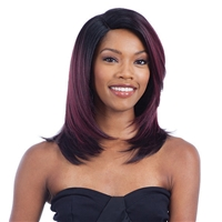 Glamourtress, wigs, weaves, braids, half wigs, full cap, hair, lace front, hair extension, nicki minaj style, Brazilian hair, crochet, hairdo, wig tape, remy hair, Lace Front Wigs, Remy Hair, Model Model Deep Invisible L-Part Wig JULIET