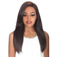 Glamourtress, wigs, weaves, braids, half wigs, full cap, hair, lace front, hair extension, nicki minaj style, Brazilian hair, crochet, hairdo, wig tape, remy hair, Lace Front Wigs, Zury PM Large Free Parting Human Blend Wig - Biz