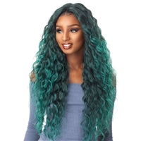 Glamourtress, wigs, weaves, braids, half wigs, full cap, hair, lace front, hair extension, nicki minaj style, Brazilian hair, crochet, hairdo, wig tape, remy hair, Lace Front Wigs, Sensationnel Empress Synthetic Natural Center Lace Front Wig - ANYA