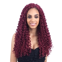 Glamourtress, wigs, weaves, braids, half wigs, full cap, hair, lace front, hair extension, nicki minaj style, Brazilian hair, crochet, hairdo, wig tape, remy hair, Lace Front Wigs, Remy Hair, Human Hair, Freetress Synthetic Braid Beach Curl 18""