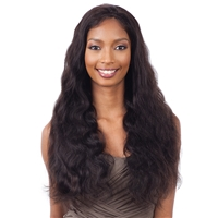 Glamourtress, wigs, weaves, braids, half wigs, full cap, hair, lace front, hair extension, nicki minaj style, Brazilian hair, crochet, hairdo, wig tape, remy hair, Lace Front Wigs, Naked Brazilian Natural Hair Frontal Lace - Natural 101 Body Wave 26""