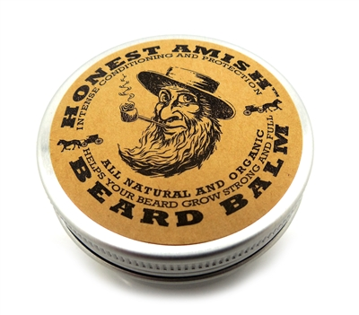 Honest Amish Beard Balm - Men's Leave-in Beard Conditioner