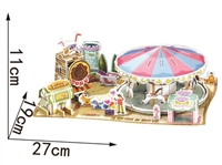 Carousel Magic-puzzle/ CubicFun B368-12 3D Puzzle 76 Pieces