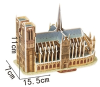 Notre-Dame De Paris Magic-puzzle/ CubicFun B668-6 3D Puzzle 39 Pieces