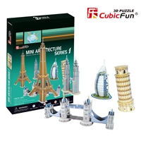 Mini Architecture Series 1 CubicFun C056h 3D Puzzle 98 Pieces