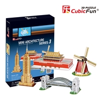 Mini Architecture Series 3 CubicFun C086h 3D Puzzle 100 Pieces