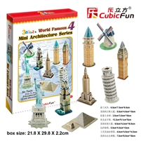Mini Architecture Series 4 CubicFun C102h 3D Puzzle 59 Pieces