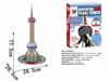 Shanghai Oriental Pearl Tv Tower Magic-puzzle/ CubicFun G168-6 3D Puzzle 86 Pieces