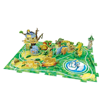 Zoo Journey CubicFun K1001h 3D Puzzle 71 Pieces