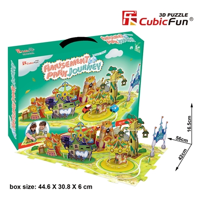 Amusement Park Journey CubicFun K1002h 3D Puzzle 59 Pieces