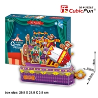 Circus- Crown Cannon CubicFun K1303h 3D Puzzle 52 Pieces
