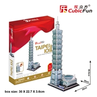 3D Puzzle Taipei 101 CubicFun MC085h 71 Pieces