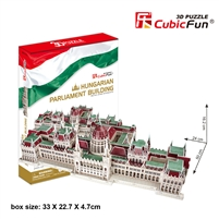 Hungarian Parliament Building CubicFun MC111h 3D Puzzle 237 Pieces